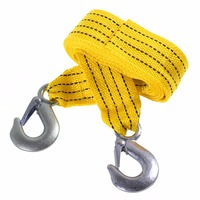 3 Tons 4 Meter Flsorescence Universal Car Tow Cable Towing Strap Rope With Hooks