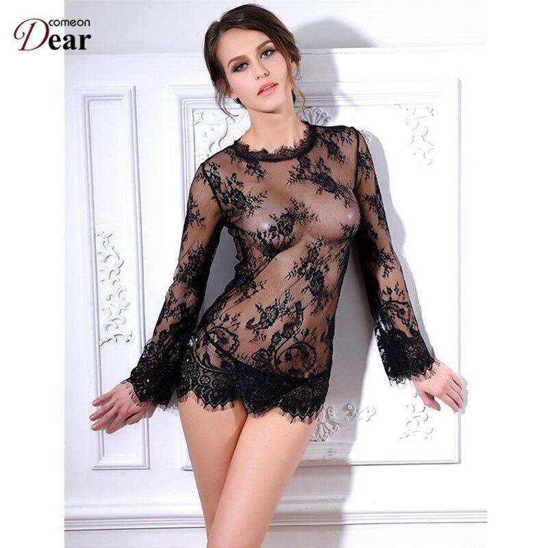 Comeondear encaje ropa de mujer transparente babydoll lencería sexy - Novedad