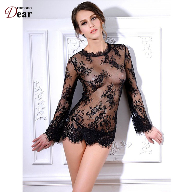 Comeondear Lace Transparent Women Clothing Babydoll Lingerie Sexy Top Selling Lingerie Sexy Hot Erotic R80215 Sexy Lingerie Hot