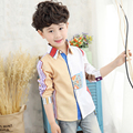 Ropa de los niños del muchacho ropa blusas y camisas de los niños boy marca camisa camisa ropa de los muchachos de la manga completa otoño niño de manga larga camisa