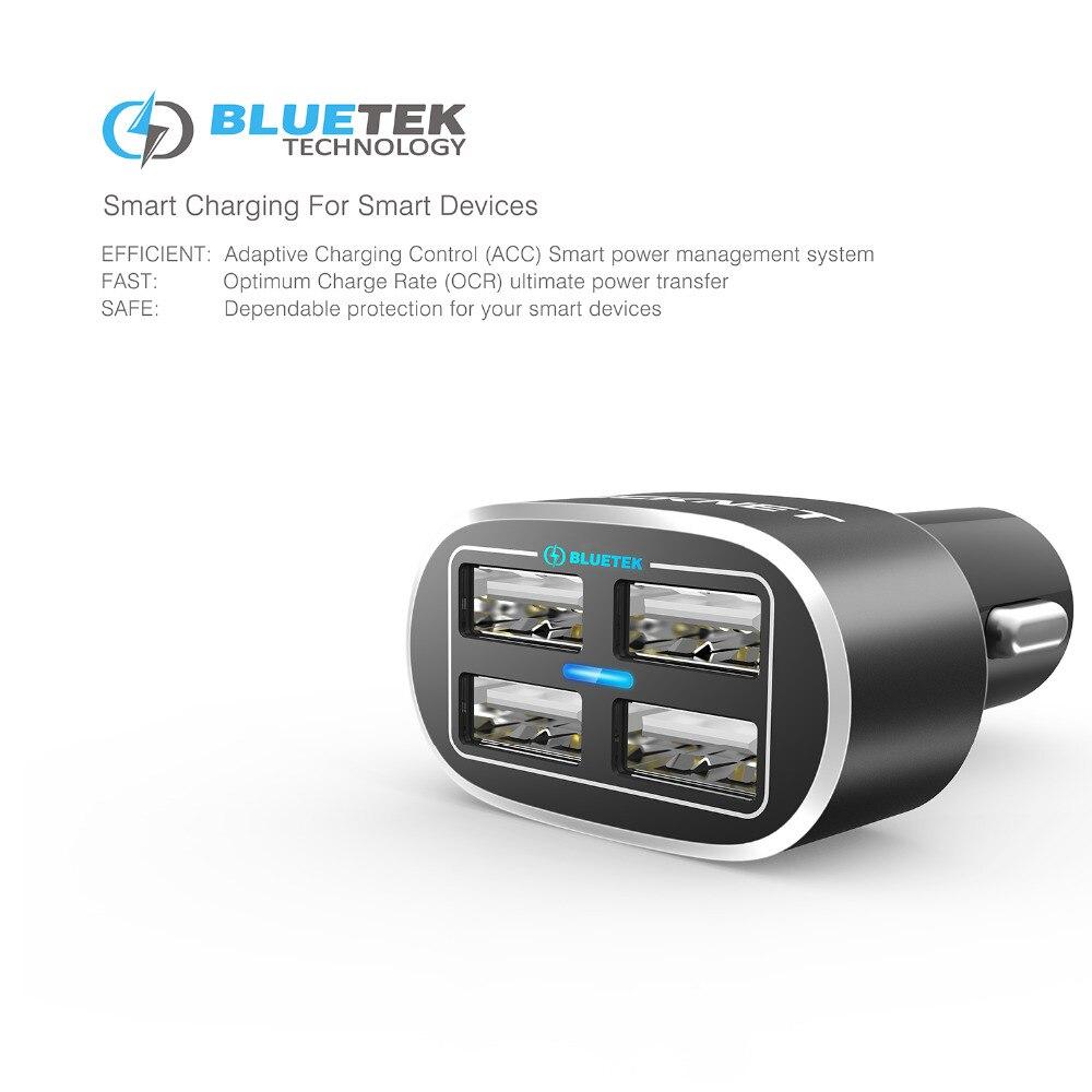 TeckNet USB-billaddare 9.6A / 48W 4-port USB-billaddare med smart - Reservdelar och tillbehör för mobiltelefoner - Foto 2