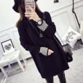 2016 autumn winter sweater women loose Long sleeves pullovers feminine pull femme loose coat