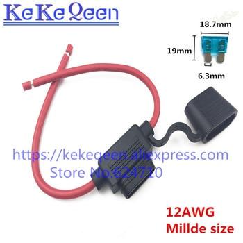 Soporte de fusibles para coche, resistente al agua, automotriz con cubierta en línea, 10, 12, 14, 16, 18 AWG, 5 unids/lote 2
