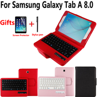 Detach Wireless Bluetooth Keyboard Case Cover for Samsung Galaxy Tab A 8.0 SM T350 T350 T355 P350 with Screen Protector Film Pen