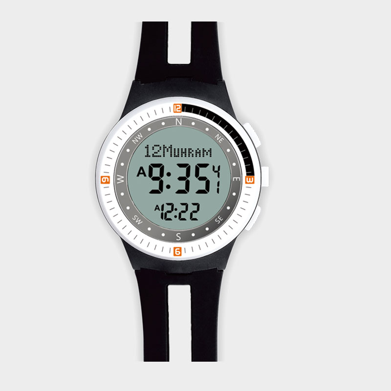 Azan Watch Muslim Prayer Digital Watch Qibla Compass Adhan Alram all All Islamic Countires Waterproof Backlight Hijri Calendar