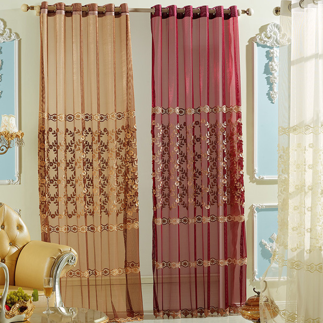 Aliexpress.com : Buy Luxury Window Curtains voile for Living Room ...