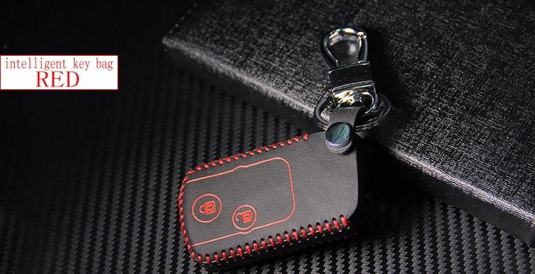 Valódi bőr autó intelligens / összecsukható kulcs tok Fob fedél - Autó belső kiegészítők - Fénykép 5