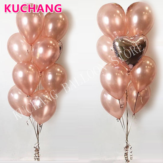 Buy 9pcs 12inch rose gold latex for Decoration maison rose gold