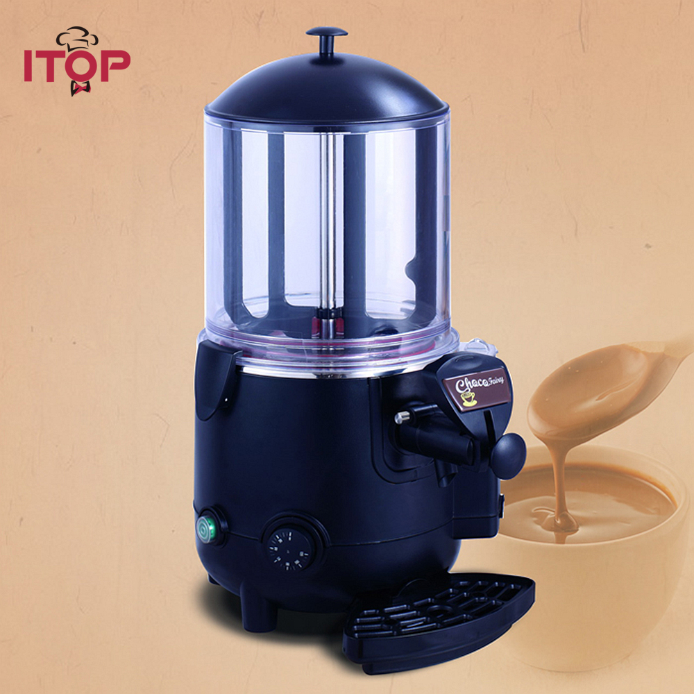 ITOP 5L Hot Chocolate Dispenser Commercial Machine Perfect for Cafe, Party, Shop and Small Bar Baine Marie edtid new high quality small commercial ice machine household ice machine tea milk shop