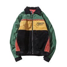 Men Parkas 2017 New Arrival Brand Winter Jacket Men Fashion Thick Slim Casual Corduroy Splice Color Coat High Quality