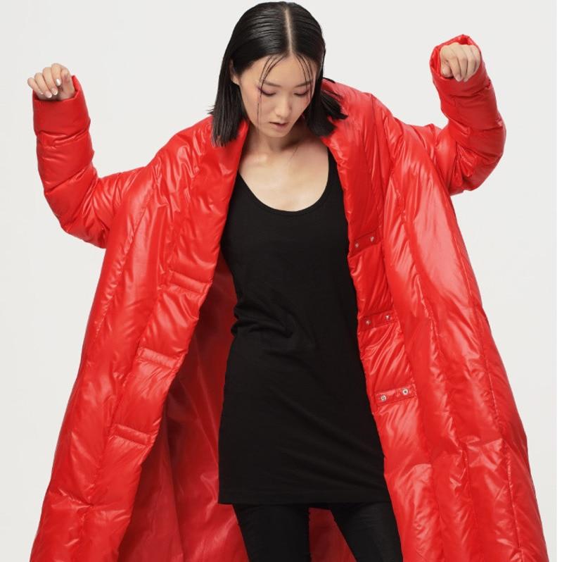 Lâche Veste Pleine Chaud Black Le Femmes Nouveau eam Bas De Ob074 Brillant Marée Col red Épais Vers Printemps Manches 2019 Vintage Garder Au Mode wtatvx0Bq
