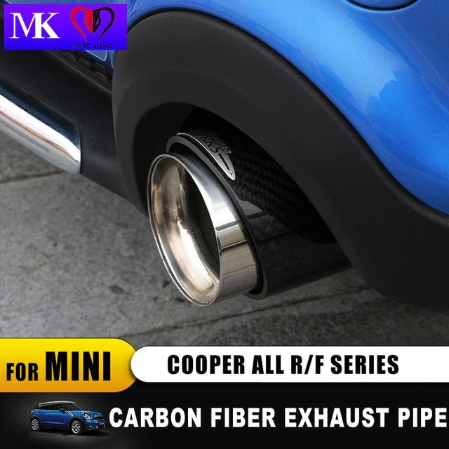 Ống xả sợi Carbon cho Mini Cooper John làm việc R55 R56 R57 F55 F56 R60 F60 Hương Xe ô tô tạo kiểu tóc ngoài trời phụ kiện trang trí