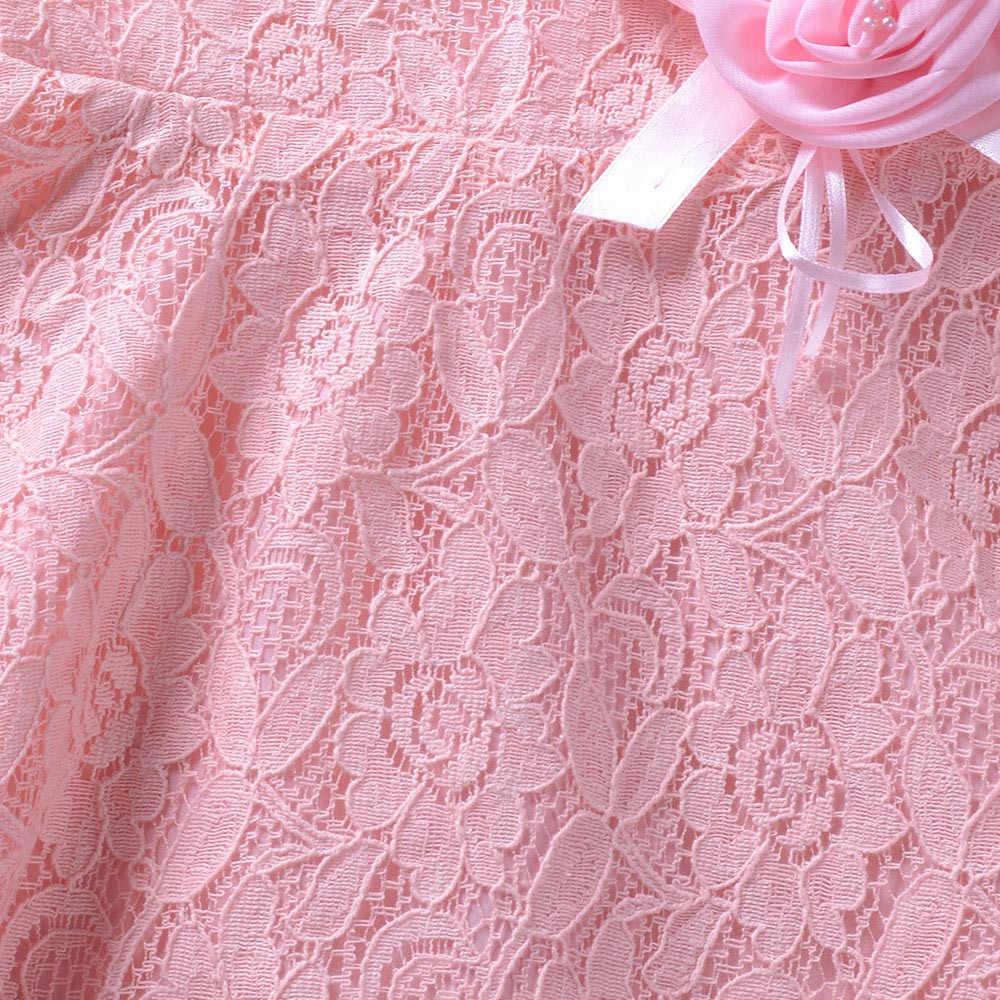 Dziewczyny bez rękawów kwiaty letnia księżniczka urocza sukienka dzieci dziewczyny bez rękawów koronki i kwiaty ubrania dla dzieci księżniczka sukienka F4