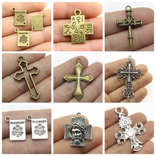 Mix Cross Charm For Religious Jewelry Findings Components Supplies Pendant Mens Accessories
