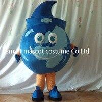 Dünya maskot kostüm küre mavi kostüm yetişkinler için