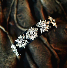Women New Gem  Shourouk Luxury Statement White Clear Flower High Quality Crystal Hair Dress Women Party Hairband Jewelry H016