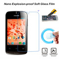 Ultra clear filme protetor de tela de vidro nano à prova de explosão-macio para philips xenium w336 filme