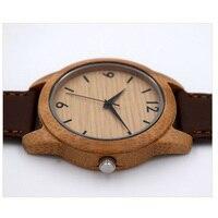Fashion Simple Bamboo Sandalwood Quartz Watch Hot Men And Women Models High Quality Strap Wood Watch