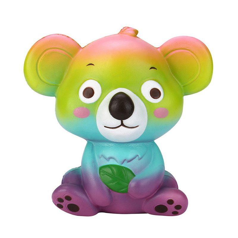 Rainbow Color Cute Cartoon Kawaii Koala Squishy Slow Rising Squeeze Toy Cute Animal Relieve Stress Toys For Kids