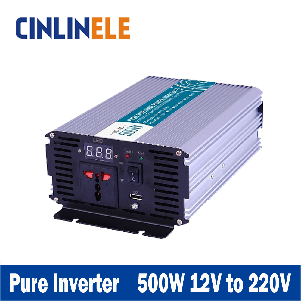 Smart Series Pure Sine Wave Inverter 500W CLP500A-122 DC 12V to AC 220V 500W Surge Power 1000WSmart Series Pure Sine Wave Inverter 500W CLP500A-122 DC 12V to AC 220V 500W Surge Power 1000W