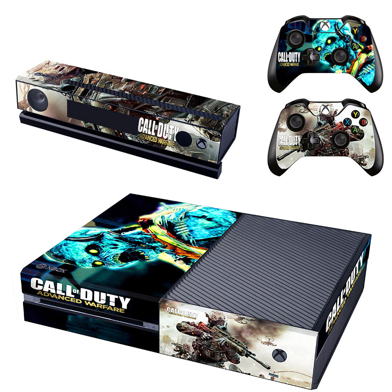 Call of Duty Advanced Warfare Decal Skin Sticker for Microsoft Xbox One Kinect and Console and 2 Controllers Vinyl Game Stickers