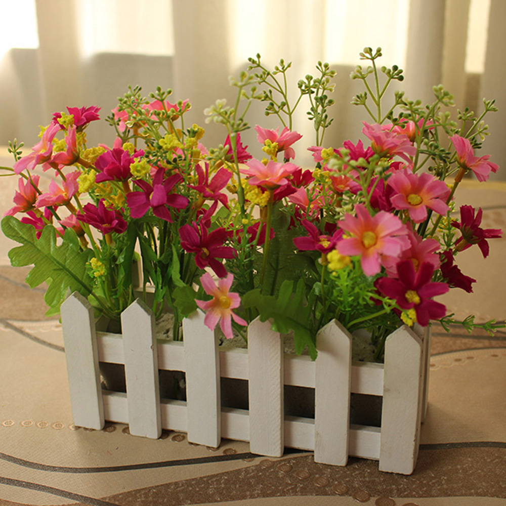 20cm artificial flowers home party christmas garden dining for Artificial flowers for wedding decoration