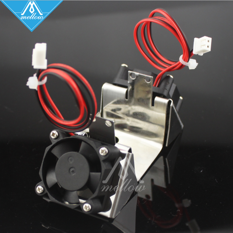 3D printer Ultimaker 2 + UM2 Dual Heads Extruder Hotend Stainless Steel Dual Fan Bracket Fans for Olsson block kit