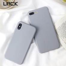 LACK Simple sólido gris suave teléfono carcasa para iphone 6 6s 7 8 Plus Vintage funda de silicona lisa para iphone X moda contraportada Capa