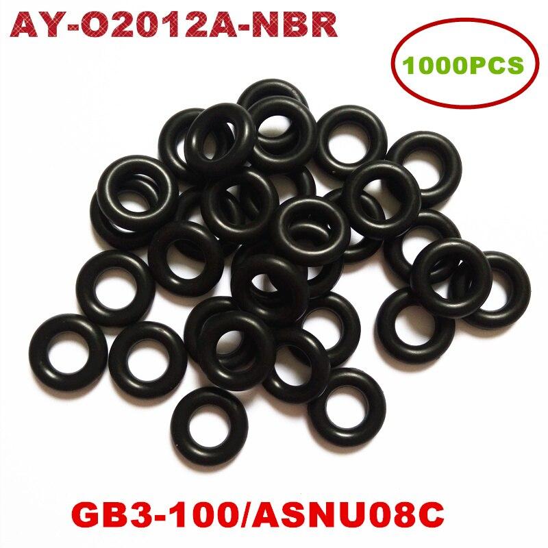 1000 pces universal injector nitrilo butadiene borracha (nbr) oring para asnu08c/GB3-100 o-anéis para kit de reparação de injector de combustível