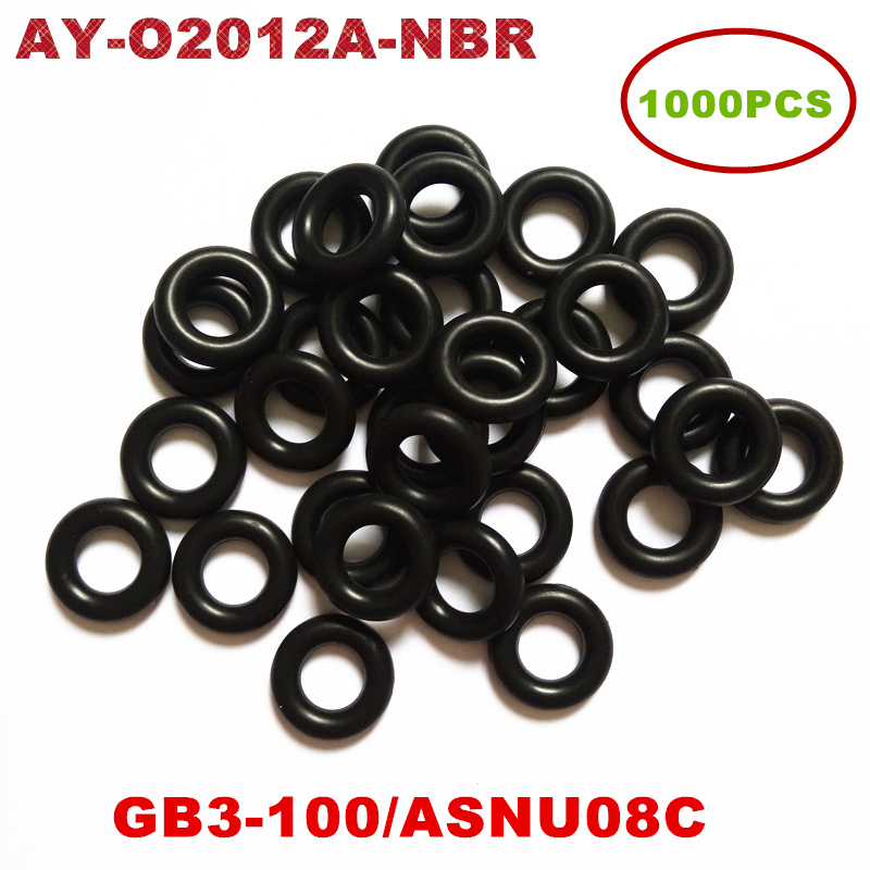 1000pcs Universal Injector Nitril Butadieen Rubber (NBR) oring Voor ASNU08C/GB3-100 O-Ringen Voor Brandstof Injector Reparatie Kit