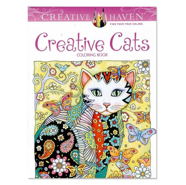 1 PC Creative Cats Coloring Book 24 Pages 18521cm Antistress Secret Garden Series Relieve