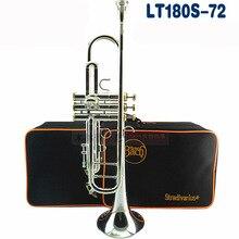 Труба Bb Бах LT180S-72 профессиональные инструменты Посеребренная Желтая латунь высококачественный музыкальный инструмент Bb Trompeta