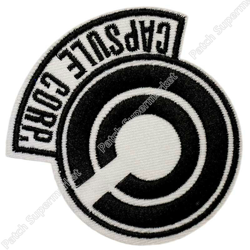"""3 """"Dragon Ball Z Capsule Corp Film TV Series Anime Cosplay Geborduurde Emblem naaien ijzer op applique Badge-in Lappen van Huis & Tuin op  Groep 1"""