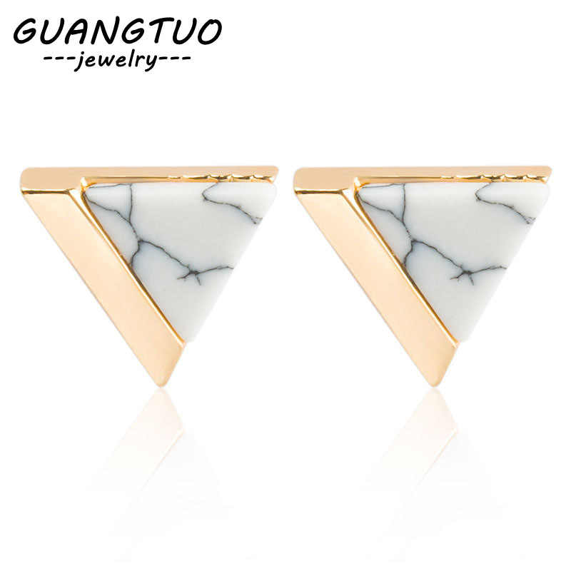 2019 New Arrival Triangle Shape Stud Earrings For Wome Bijoux boucle d'oreille femmes Fashion Ear Jewelry Brincos For Lady Gift
