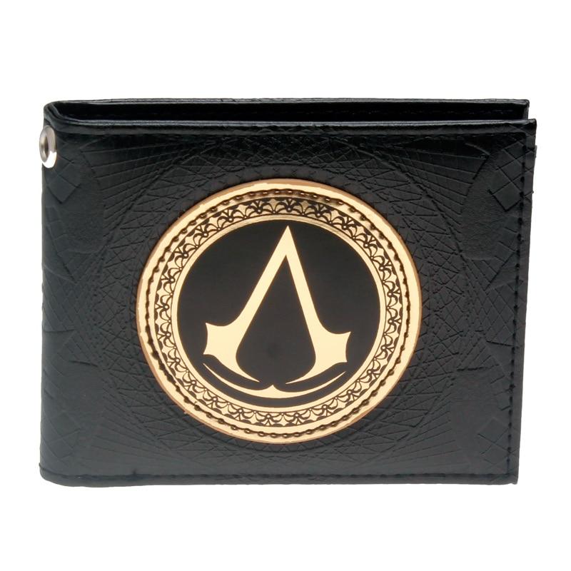 Assassins Creed black Bi-Fold Wallet DFT-1508 assassins creed wallet dft 1918
