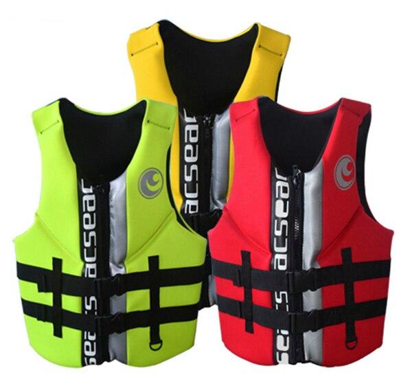 Hisea adulte vie gilet de flottabilité épaississement dérive gilet marine avec tuba maillot de bain Surf plongée enfants gilet de sauvetage 4 couleurs