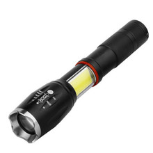 LED 8000 Lumens T6 Handheld Tactical Flashlight  COB Lantern Magnetic 6 Modes Water Resistant for Telescopic focusing work light 6 modes led xml t6 cob flashlight 8000lm rechargeable lantern torch tail magnetic water resistant by aaa 18650 flashlight