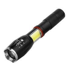 LED 8000 لومينز T6 يده التكتيكية مضيا COB فانوس المغناطيسي 6 طرق مقاومة للماء ل تلسكوبي التركيز ضوء العمل