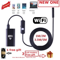 WIFI Endoscope For IPhone Android Mobile And Laptop 1M 3 5M 5M Cable 8 0mm Lens