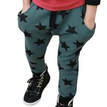 Toddler Boys Cotton Long Pants Stars Pattern Casual Pants Bottoms 6M-4Y 2 Colors