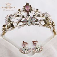 New Arrival Luxury Crystal Bride Baroque Beads Pearl Alloy Hair Bands Wedding Accessories