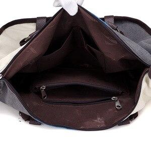 Image 5 - KVKY Women Canvas Bag Handbag Famous Brand Large Capacity Patchwork Tote Bag Hipster Classic Hobos Vintage Shoulder Travel Bag