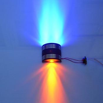 3 Watt AC85-265V Wandleuchten Eingang Blau, Grün, Gelb Drei Farbe mit Up & Down Emittion LED Wandleuchte, 30 Grad Abstrahlwinkel