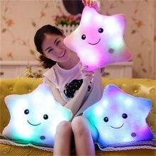 SAILEROAD Glow In The Dark Toys kids Luminous Star Soft Stuffed Plush Cotton Pillow Toy Led Light Glowing Pillow Child Gift Toys