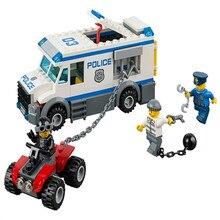 198 шт. legoings полиция узник транспортного средства здания Конструкторы Kit игрушки DIY образования детей подарки на день рождения