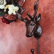Deer clothing hooks on the wall hook iron single coat vintage