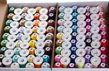Popular Simthread 120 colors Polyester Embroidery machine thread 1100 Yards Each as home machine embroidery/quilting thread