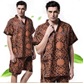 New summer Pajama Sets concise Short-Sleeved Cotton Pyjamas Men's Sleep wear Underwear Sets Casual Lounge