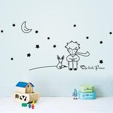 96*42cm Stars Moon The Little Prince Fox Graphic Wall Vinyl Children Fairy Tale Sticker decals for kids room nursey decor