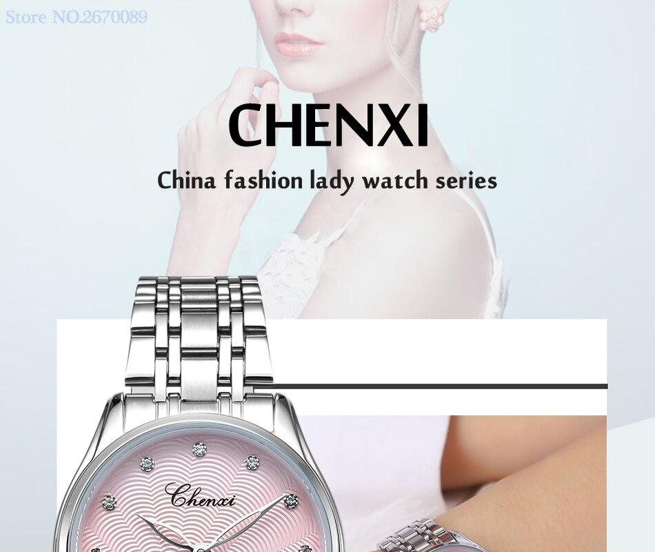 quartzo senhoras moda relógios de couro e